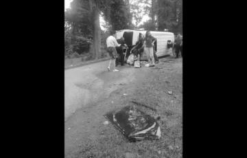 Крупная авария в Пицунде